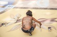 """Una delle opere di street art del progetto """"Pubblica"""""""